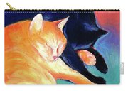 Orange And Black Tabby Cats Sleeping Carry-all Pouch
