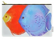 Orange And Blue Discus Fish Carry-all Pouch