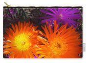 Orange And Fuchsia Color Flowers Carry-all Pouch