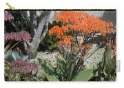 Orange And Pink Exotic Bell Flowers Carry-all Pouch