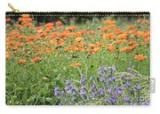 Orange And Purple Dream Flowers Carry-all Pouch