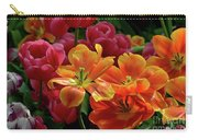 Orange And Red Tulip Lilies In Various Stages Of Bloom Carry-all Pouch