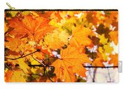 Fall Of Orange Leaves Carry-all Pouch