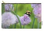 Orange-belted Bumblebee On Chive Blossoms Carry-all Pouch