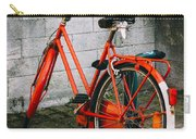 Orange Bicycle In The Street Carry-all Pouch