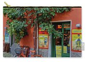 Orange Bicycle Wine Shop Monterosso Italy Dsc02584 Square Carry-all Pouch