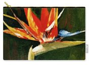 Orange Bird Of Paradise Carry-all Pouch