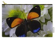 Orange Blue Butterfly On Poms Carry-all Pouch