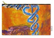 Orange Blue Purple Medical Caduceus Thats Atmospheric And Rising With Mystery Carry-all Pouch