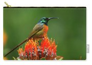 Orange-breasted Sunbird On Protea Blossom Carry-all Pouch