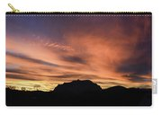 Orange Brushstrokes Over Picket Post Carry-all Pouch