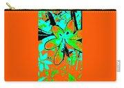 Orange Burst Flower Carry-all Pouch
