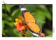 Orange Butterfly Carry-all Pouch