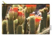 Orange Cactus Blooms Carry-all Pouch