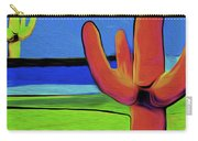Orange Cactus By Nixo Carry-all Pouch