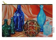Orange Cloth Blue Bottles Carry-all Pouch
