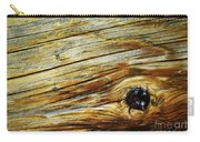 Orange Colored Old Wooden Board Carry-all Pouch