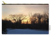 Orange Dawn Sky Behind Trees Carry-all Pouch
