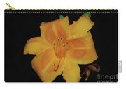 Orange Daylily Flower Blossom In A Garden Carry-all Pouch