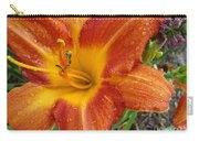 Orange Daylily With Dew Carry-all Pouch