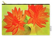 Orange Waterlily Watercolor Painting Carry-all Pouch