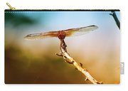 Orange Dragonfly Wings I Carry-all Pouch