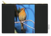 Orange Finch Carry-all Pouch