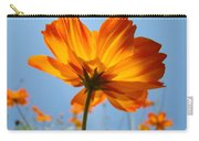 Orange Floral Summer Flower Art Print Daisy Type Blue Sky Baslee Troutman Carry-all Pouch