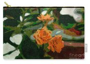Orange Flower Abstract Carry-all Pouch