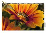 Orange Flower Print Carry-all Pouch