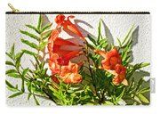 Orange Trumpet Flowers At Pilgrim Place In Claremont-california  Carry-all Pouch