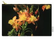Orange Flowers On Black Carry-all Pouch