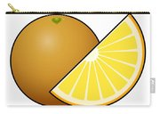 Orange Fruit Outlined Carry-all Pouch