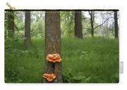 Orange Fungi On A Tree Carry-all Pouch