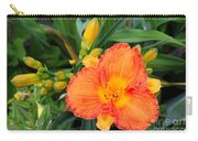 Orange Gladiola Flower And Buds Carry-all Pouch
