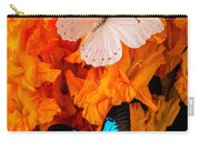 Orange Glads With Two Butterflies Carry-all Pouch