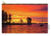 Orange Glow Sunset At Sunset Beach In Vancouver Bc Carry-all Pouch