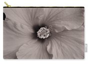 Orange Hibiscus Blossom In Sepia Carry-all Pouch