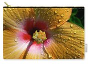 Orange Hibiscus II With Water Droplets Carry-all Pouch