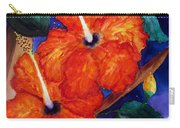 Orange Hibiscus Carry-all Pouch by Lil Taylor