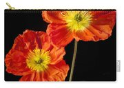 Orange Iceland Poppies Carry-all Pouch by Garry Gay
