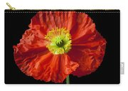 Orange Iceland Poppy In Red Pitcher Carry-all Pouch