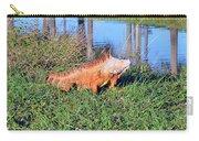Orange Iguana Carry-all Pouch
