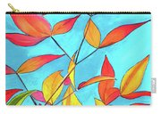 Orange Leaves Carry-all Pouch