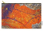 Orange Lichen Carry-all Pouch