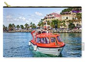 Orange Lifeboats Across Colorful Bay Carry-all Pouch