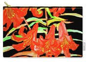 Orange Lilies, Hand Drawn Painting Carry-all Pouch