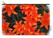 Orange Lilies Vignette Carry-all Pouch