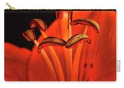 Orange Lilly  Carry-all Pouch