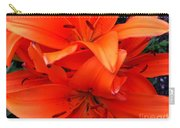 Orange Lily Closeup Digital Painting Carry-all Pouch